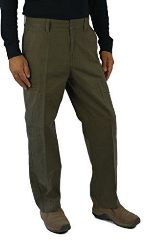 Weatherproof Mens Cotton Canvas Cargo Pants (W38XL29, Olive) (Canvas Cargo Pants compare prices)