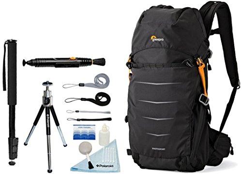 Lowepro Photo Sport BP 200 AW II Waterproof Photo Backpack (Black) + Accessory Bundle For Canon, Nikon, Sony, Olympus, Pentax Digital SLR Cameras - Lowepro Fast Pack 200 Digital Slr Backpack