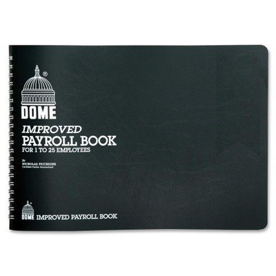 Dome Publishing Co Inc Payroll Books, 1-15 Employees, 10X6-1/2, Blue by DomeSkin by DomeSkin