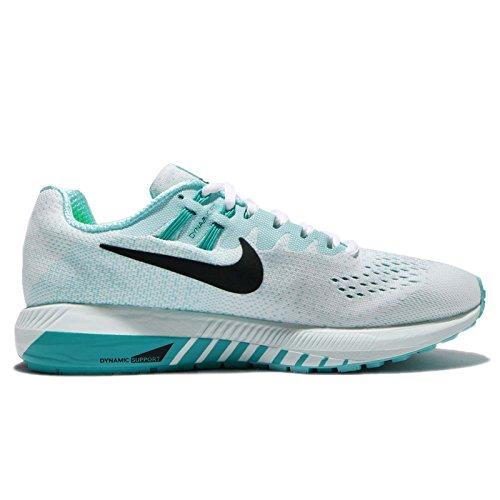 Nike Womens Wmns Air Zoom Structuur 20, Wit / Zwart-aurora Groen, 9.5 Us