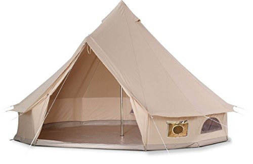 DANCHEL 4-Season Family Cotton Bell Tents (10ft 13.1ft 16.4ft 19.7ft Dia. size options)