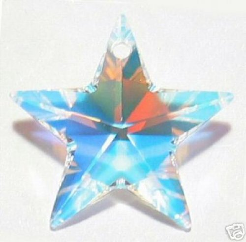 1 pc Swarovski Crystal 6714 Star Charm Pendant Clear AB 20mm / Findings / Crystallized ()