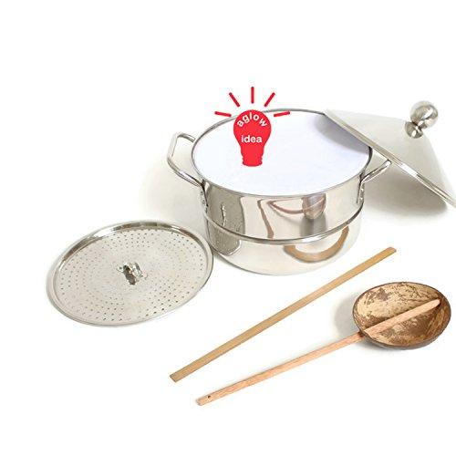 - Banh cuon steamer pot set - Vietnamese Noi banh cuon - Stainless steel steamer