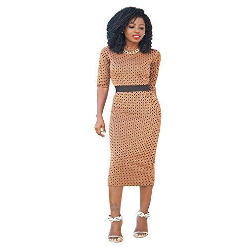 womens-elegant-crewneck-3-4-sleeve-polka-dots-bodycon-pencil-party-midi-dress