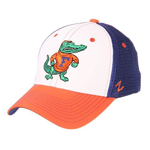 Zephyr NCAA Florida Gators Mens Threepeatthreepeat Relaxed Cap, White/Team Color, Adjustable