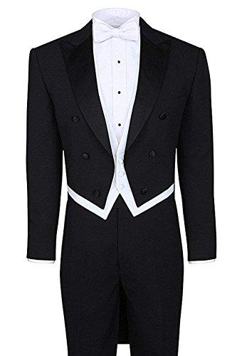 - YSMO Men's Tailcoat 3 Piece Blazer Wedding Suits Jacket & Vest & Trousers