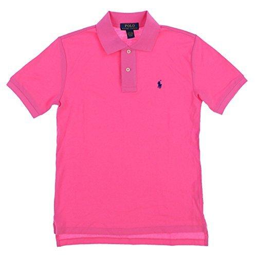 Polo Ralph Lauren Boys Classic Fit Mesh Polo Shirt (Pink, X-Large (18-20))