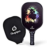 Pickleball Paddle, Graphite Pickleball Racket Polypropylene Honeycomb Core Ultra Cushion 4.5In Grip Lightweight Pickleball paddle 8OZ with Cover, USAPA Pickleball Racquet For Beginners, Outdoor Indoor