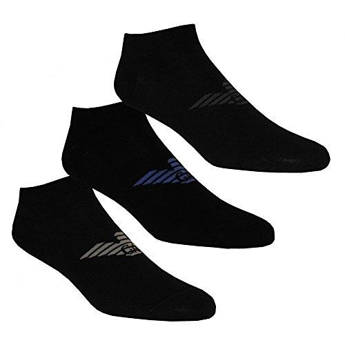 Emporio Armani Men's Plain Cotton 3pack Ankle Socks, Black, - Armani Uk Mens