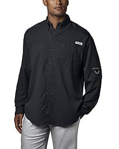 Columbia Men's Plus Tamiami II Long Sleeve Shirt, Black - X-Small
