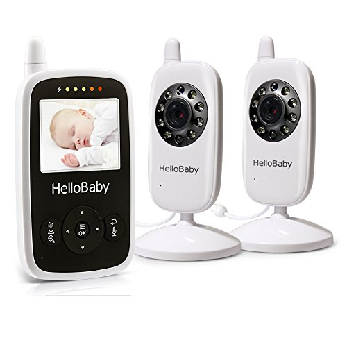 hello baby portable wireless video baby monitor with 2 digital cameras night vision. Black Bedroom Furniture Sets. Home Design Ideas