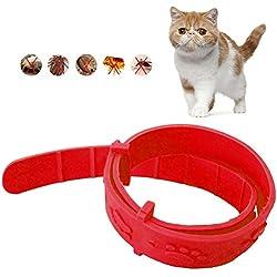 Cuello ajustable para pulgas de gato para perros, protección rápida y duradera para mascotas Cuello de control de pulgas, antipulgas, garrapatas y bichos con eficacia, control de picaduras de insectos