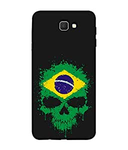 ColorKing Football Brazil 02 Black shell case cover for Samsung Galaxy J7 Prime