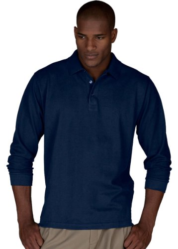 Edwards Garment Men's Big And Tall Wrinkle Resistant Polo Shirt_NAVY_4XLT