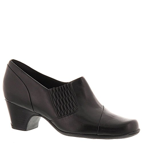 Clarks Sugar Maple Womens Black Leather Loafer ()