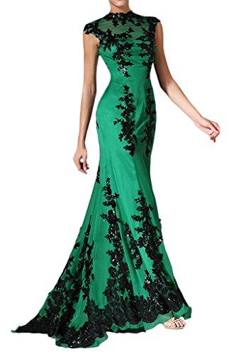 Applikation Ivydressing Spitze Mermaid Chiffon Abendkleid Lang Elegant Festkleid Grün Damen