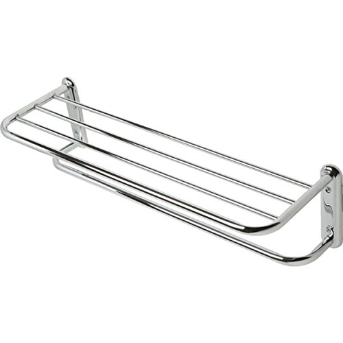 Aspen Andes Polished Chrome Towel Shelf And - Accessories Ande Chromes