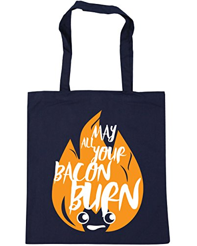 litres All Bag French HippoWarehouse Beach Gym x38cm 42cm Your Bacon 10 Navy Tote Shopping Burn May UwwO5zqF