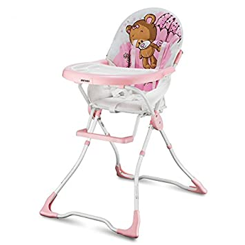 Amazon.com : protable fold baby high chair, net weight about 5.8kg (pink) Baby