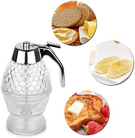 200ML Honey Dispenser With Storage Stand Baking Honey Dispenser Tool Supply Sale