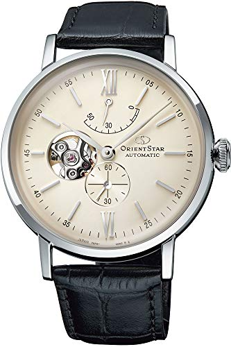 Orient Mens Analogue Automatic Watch with Leather Strap RE-AV0002S00B