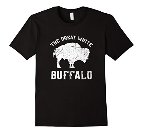 Mens The Great White Buffalo T-Shirt Native American Inspired 2XL Black -