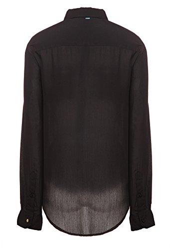 Basic nero Abbigliamento Khujo Maniche Lunghe Donna Nero Camicia 200 fZwq0v