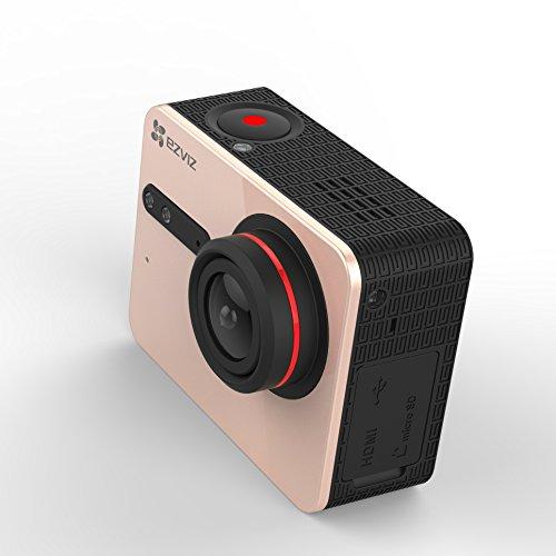 41KdEONkuHL EZVIZ 5 PLUS Ultra HD 4K Video Wifi Sports Action Camera with Waterproof Touchscreen Case, Gold