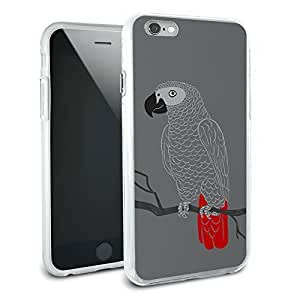 African Gray Parrot - Bird Protective Slim Hybrid Rubber Bumper Case for Apple iPhone 6 Plus