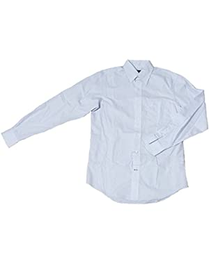 Men's Classic Fit Wrinkle Resistant Windowpane Button Down Shirt