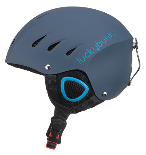 Lucky Bums Snow Sport Helmet, Matte Steel/Blue, XL (Blue X-large Matte Helmet)