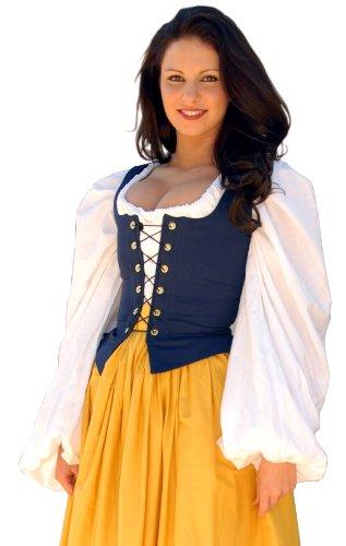 Bodice Twill - Sofi's Stitches Renaissance Twill Bodice Women's Costume (30-32 inches, Navy Blue)