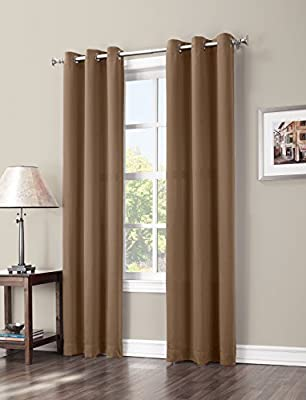 Sun Zero Easton Blackout Energy Efficient Grommet Curtain Panel