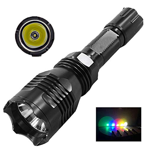 High Power Led Military Flashlight, Portable Waterproof Hunting Daily Use Torch with Gun Mount Remote Switch Camping Equipment Torch Lamp