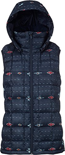 (Burton Women's AK Squall Down Vest, Floral Ikat Stripe, Medium)