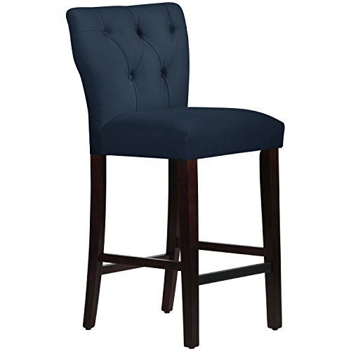 Price comparison product image Skyline Furniture Premier Navy Tufted Hourglass Bar Stool
