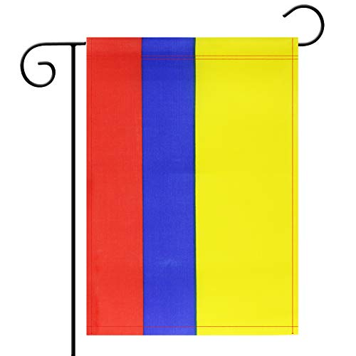 Garden Flag Colombia Colombian Garden Flag,Garden Decoration Flag,Indoor and Outdoor Flags,Celebration Parade Flags,Anniversary Celebration, National Day,Double-Sided. -