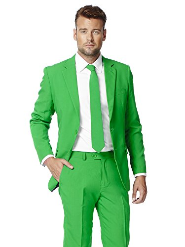 OppoSuits Men's Evergreen Party Costume Suit, Green,