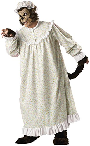 Scary Big Bad Wolf Costumes (InCharacter Costumes Big Bad Wolf Adult Night Gown Costume, Multi Colored, X-Large)
