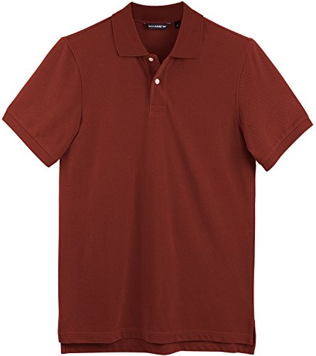 ff969170a3d WANNEW Polo Shirts for Men Cotton Mens Polo Shirts Regular-Fit Short Sleeve  (M