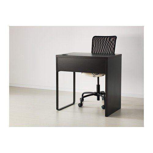 1) - IKEA MICKE - Desk, black-brown - 73x50 cm: Amazon.es: Hogar