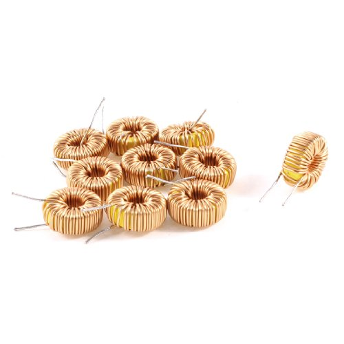Uxcell a13071500ux0182 10 Piece Toroid Core Inductor Wire Wind Wound 100uH 81mOhm 2 Amp, Coil