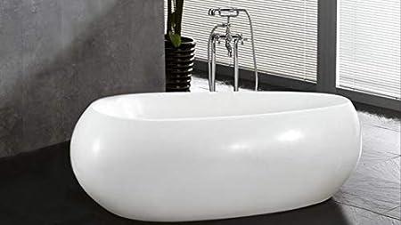 Robinet de baignoire Autoportante Ilot Bain M/élangeur Mitigeur de Baignoire /Îlot sur Pied noir