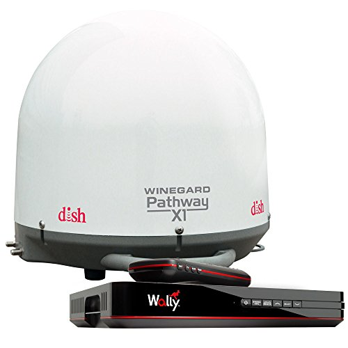 - Winegard PA2000R Pathway X1 Automatic Portable Truck Satellite TV Antenna with DISH Wally Receiver Bundle (Trucking Satellite Antenna, Optional Mounts) - White