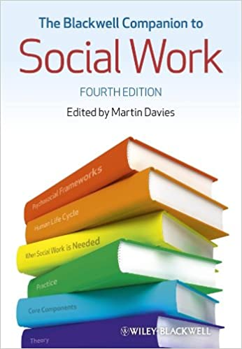 The Blackwell Companion To Social Work Martin Davies 9781118451724