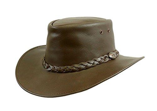 KakaduTraders Australia Colonial Murray Leather Hat, 2nd Choice - Kakadu Leather Hat
