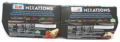Variety Pack - Dole Mixations Fruit Cups (16 Oz) 4 Pk - Apple Cherry, Apple Strawberry