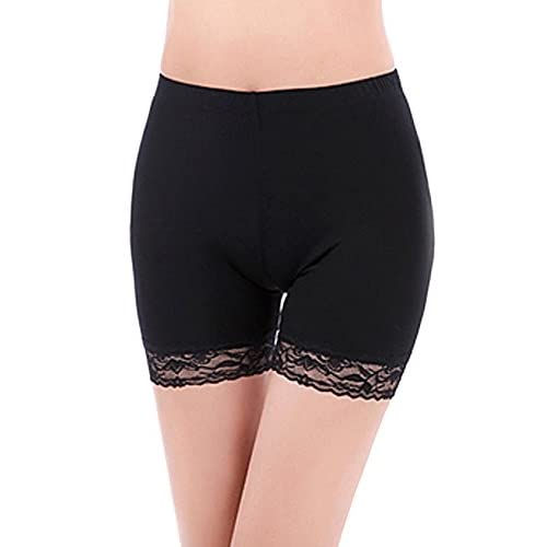 Bestgift Womens Modal Lace Stretchy Safety Shorts Panties