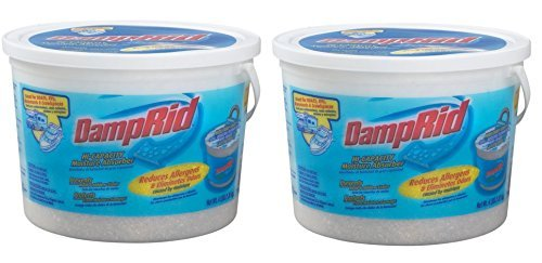 DampRid FG50T Hi-Capacity Moisture Absorber 64 OZ Tub (Pack of 2) Made in USA