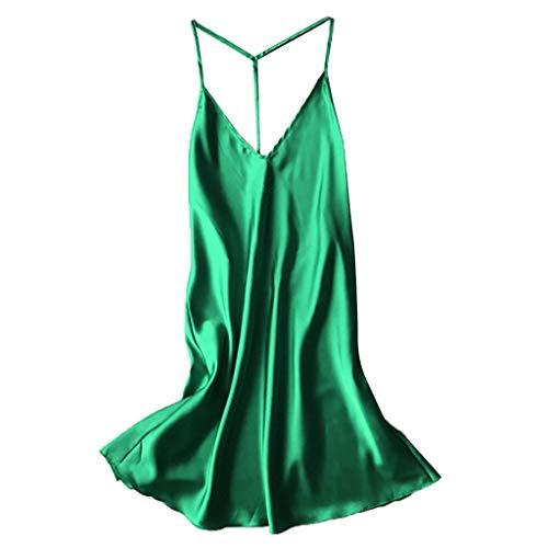 Sexy Lingerie for Women Fishnet Halter Chemise Deep V Hot Mesh Mini Dress Bodysuit ()